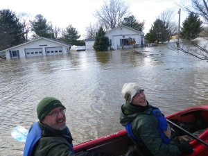Flooding on the Grand River in April 2013