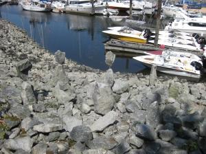 Balanced rocks near Vancouver BC, Canada.