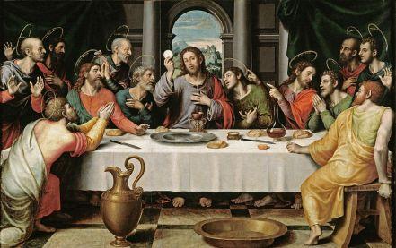 http://en.wikipedia.org/wiki/Eucharist#mediaviewer/File:%C3%9Altima_Cena_-_Juan_de_Juanes.jpg