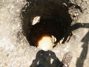 Hand-dug well in Haiti