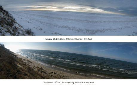 Lake Michigan Freeze Up 2014-2015