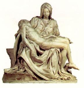 "The ""pieta"" by Michelangelo"