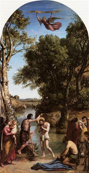 The Baptism of Christ by Camille Corot